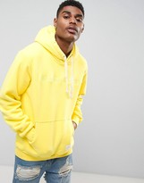 Criminal Damage Hoodie In Yellow With Embroidered Logo