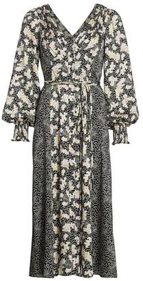 Cinq à Sept Jessica Mixed Floral Midi Dress