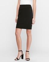 Express High Waisted Fold-Over Waistband Pencil Skirt