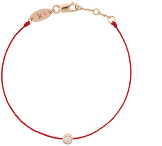 Redline 18kt Rose Gold And Diamond String Bracelet