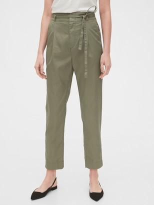 Gap Paperbag-Waist Khaki Pants