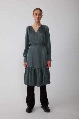 Just Female Minnie Wrap Dress Balsam Green - XS
