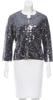 Karen Millen Sequined Knit Cardiagn