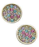 Kate Spade 14k Gold-Plated Multi-Color Pavé Disc Stud Earrings