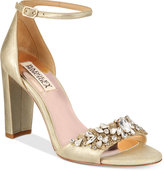 Badgley Mischka Barby Ankle-Strap Evening Sandals