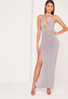 Missguided Keyhole Maxi Dress Grey