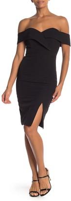 One One Six Off-the-Shoulder Sweetheart Sheath Dress
