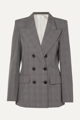 Etoile Isabel Marant Iliane Checked Cotton-blend Blazer - Anthracite