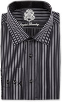 English Laundry Striped Long-Sleeve Dress Shirt, Black