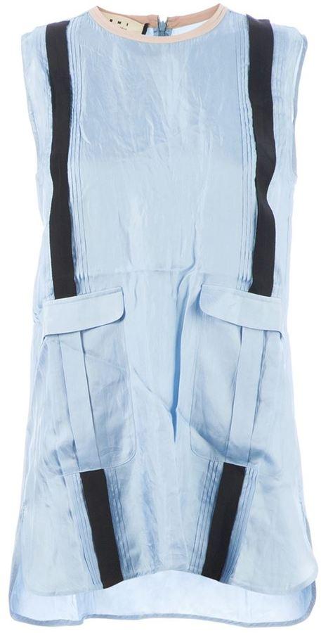 Marni contrast stripe blouse