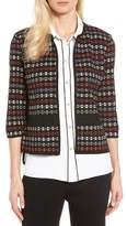 Ming Wang Women's Three-Quarter Sleeve Knit Jacket