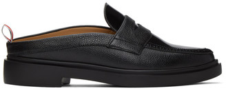 Thom Browne Black Lightweight Sole Slip-On Penny Loafers