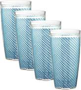 Kraftware the Fishnet Collection Doublewall Drinkware, Set of 4