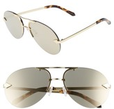 Karen Walker Women's Love Hangover 60Mm Mirrored Lens Aviator Sunglasses - Crazy Tortoise/ Gold/ Mirror