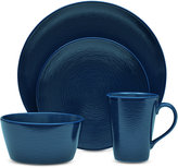 Noritake Navy-On-Navy Swirl 4-Pc. Coupe Place Setting
