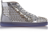 Christian Louboutin Louis spike-embellished leather high-top trainers