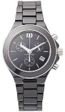 Danish Design (ダニッシュ デザイン) - デンマークデザインiv64q874ブラックセラミックバンドブラックダイヤルクロノグラフレディース時計