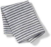 Fog Linen Linen Kitchen Cloth in White Navy Stripe
