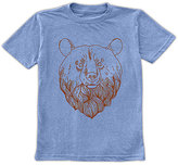 Urban Smalls Heather Blue Bear Head Crewneck Tee - Toddler & Boys