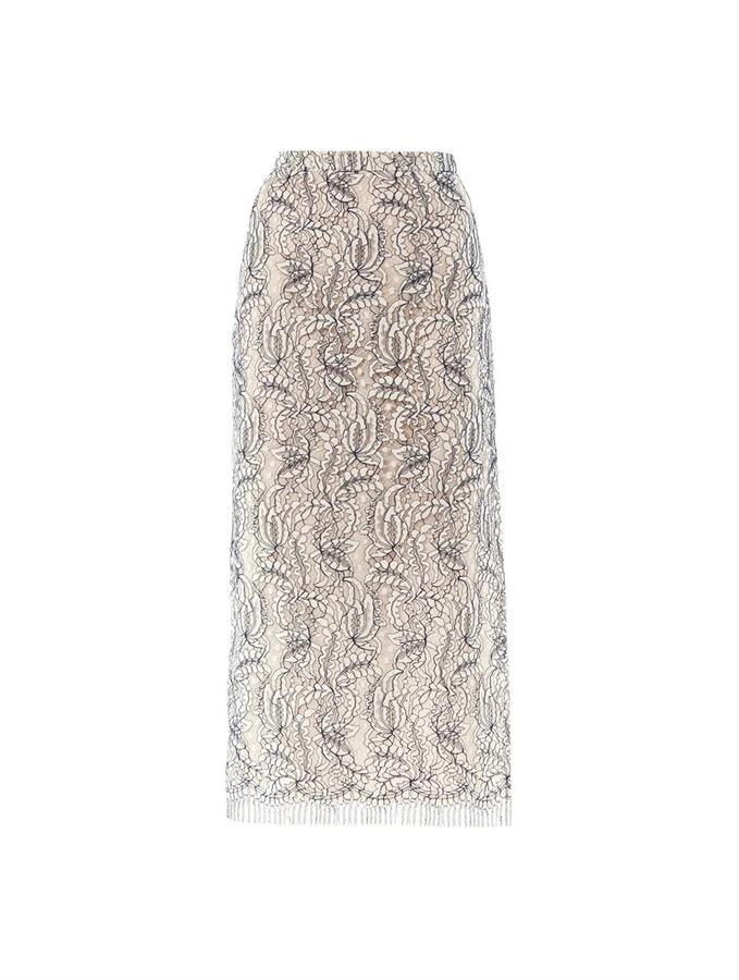 ADAM by Adam Lippes Lace hem-slit skirt