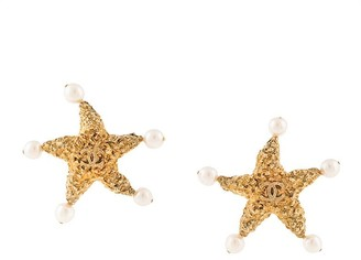 Chanel Pre Owned 1993 CC starfish earrings