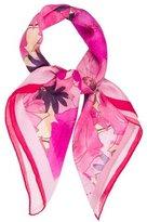 Nina Ricci Silk Floral Scarf