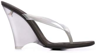 Yeezy Perspex thong sandals