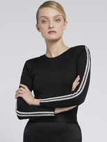 Alice + Olivia Raven Strong Shoulder Top