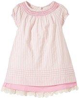 Hatley Pin Tucked Dress (Toddler/Kid) - Pink - 5
