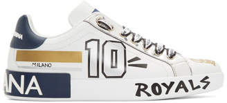 Dolce & Gabbana White Portofino Millennials Sneakers