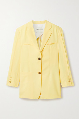 ANDERSSON BELL Cintia Oversized Woven Blazer - Yellow