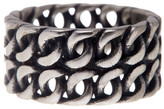 Steve Madden Double Row Chain Ring