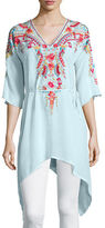 Johnny Was Cleopatra Embroidered Asymmetric Tunic