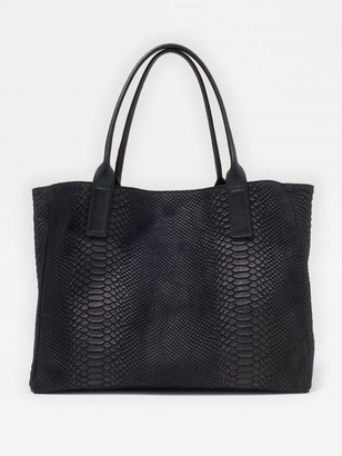 J.Mclaughlin Brie Suede Tote in Python