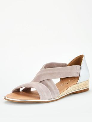 Office Hallie Wedge Sandal - Grey Silver