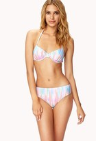 Forever 21 High-Waisted Watercolor Bikini Bottom