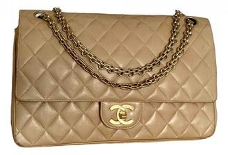 Chanel Timeless/Classique Beige Leather Handbags