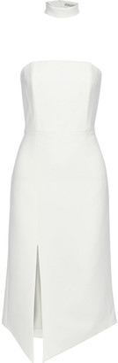 Alice + Olivia Sia Strapless Crepe Dress
