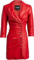 retrofete Willa Leather Mini Dress