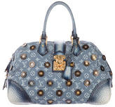 Louis Vuitton Denim Polka Dot Trunks Bag Bowly