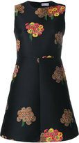 RED Valentino floral jacquard mini dress - women - Polyester/Acetate - 44