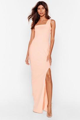 Nasty Gal Womens My Plus One Shoulder Maxi Dress - Blush