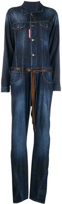 DSQUARED2 Boxy Fit Stonewashed Jumpsuit