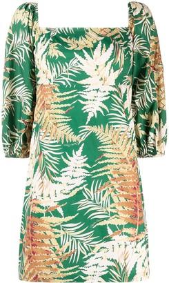 Cara Cara Leaf Print Dress