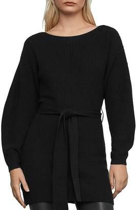 BCBGMAXAZRIA Tie-Waist Tunic Sweater