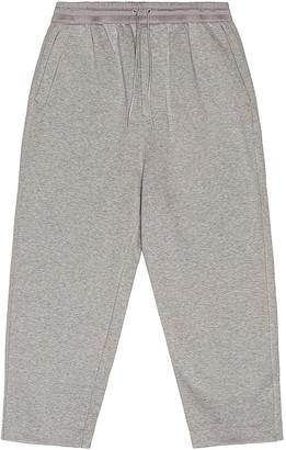 Yohji Yamamoto Terry Cropped Pants in Medium Grey Heather   FWRD