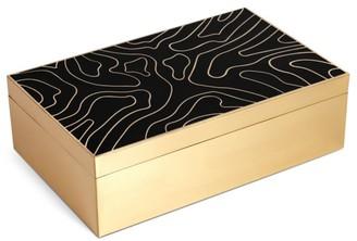 L'OBJET Isles Resin & Brass Box
