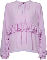 Rochas frill trim blouse - women - Silk - 40