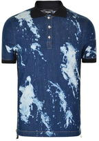 DSQUARED2 Bleached Zip Polo Shirt