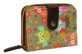 Happy Owl Print Oil cloth Womens Ladies Girls Folding Wallet Purse- SWANKYSWANS